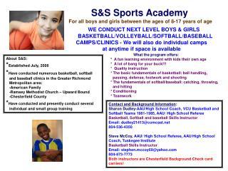 S&S Sports Academy