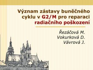 Význam zástavy buněčného cyklu v  G2/M  pro reparaci  radiačního poškození