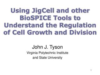 Using JigCell and other BioSPICE Tools to Understand the Regulation of Cell Growth and Division