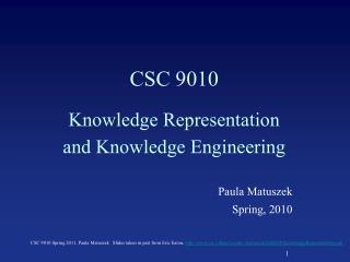 CSC 9010