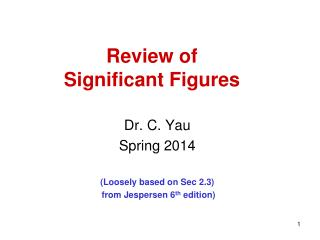 Review of Significant Figures