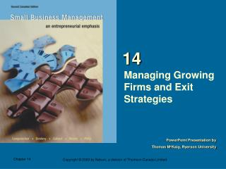 Managing Growing Firms and Exit Strategies