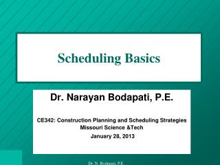 Scheduling Basics