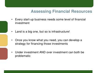 Assessing Financial Resources