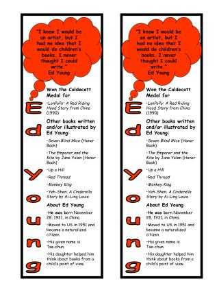 Ed Young Bookmarks