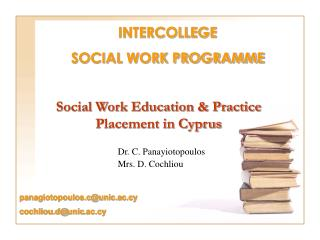 Social Work Education & Practice Placement in Cyprus