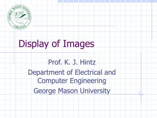 Display of Images