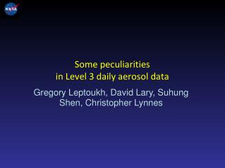 Some peculiarities  in Level 3 daily aerosol data