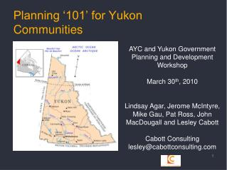 Planning '101' for Yukon Communities