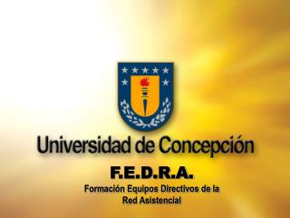 F.E.D.R.A. Formaci n Equipos Directivos de la Red Asistencial