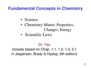 Fundamental Concepts in Chemistry