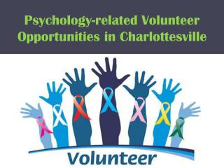 Psychology-related Volunteer Opportunities in Charlottesville