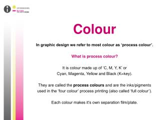 Colour In graphic design we refer to most colour as �process colour�. What is process colour?