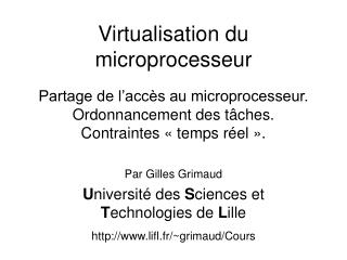 Virtualisation du microprocesseur
