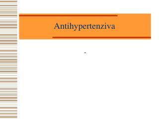 Antihypertenziva