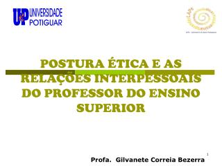 POSTURA  TICA E AS RELA  ES INTERPESSOAIS DO PROFESSOR DO ENSINO SUPERIOR