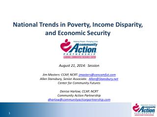 National Trends in Poverty, Income Disparity, and Economic Security
