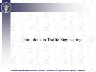 Intra-domain Traffic Engineering