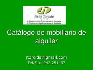 Catálogo de mobiliario de alquiler