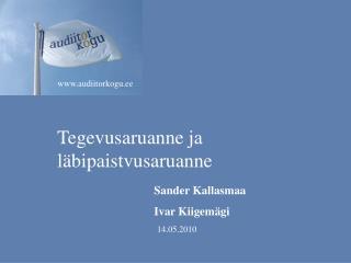 Tegevusaruanne ja läbipaistvusaruanne