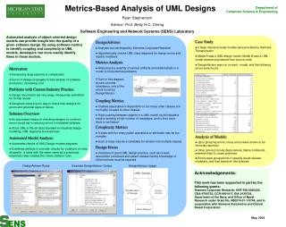 Metrics-Based Analysis of UML Designs