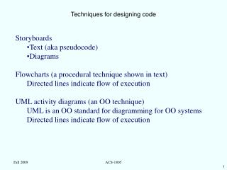 Techniques for designing code