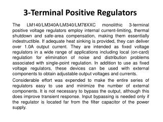 3-Terminal  Positive Regulators