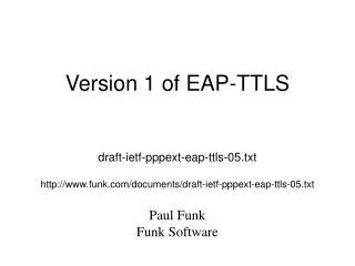 Version 1 of EAP-TTLS