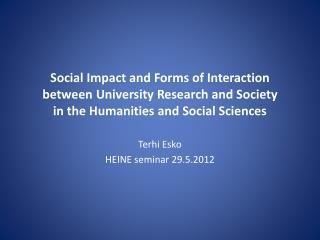 Terhi Esko HEINE  seminar  29.5.2012