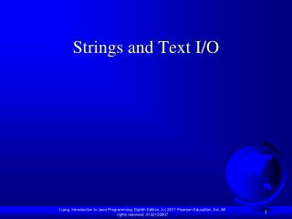 Strings and Text I/O