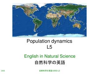 Population dynamics L5