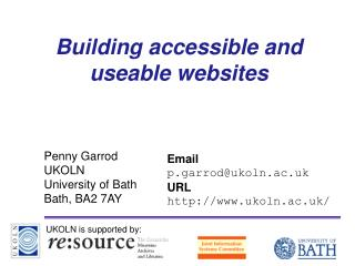 Building accessible and useable websites