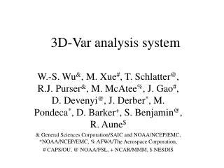 3D-Var analysis system