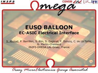 EUSO BALLOON EC-ASIC Electrical Interface