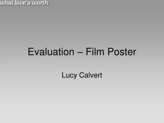 Evaluation – Film Poster