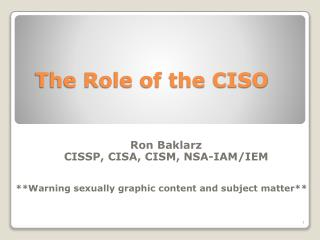 The Role of the CISO