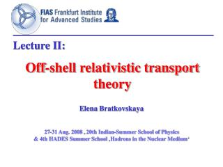 Off-shell relativistic transport theory