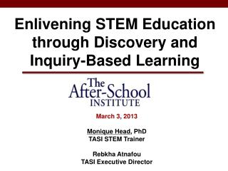 Enlivening STEM Education through Discovery and Inquiry-Based Learning