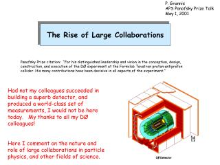 The Rise of Large Collaborations