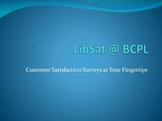 LibSat  @ BCPL