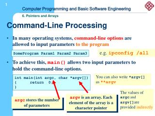 Command-Line Processing