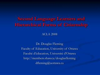 Second Language Learners and Hierarchical Forms of Citizenship