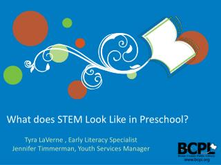 What does STEM Look Like in Preschool?