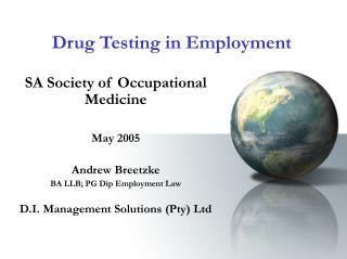 Drug Testing in Employment
