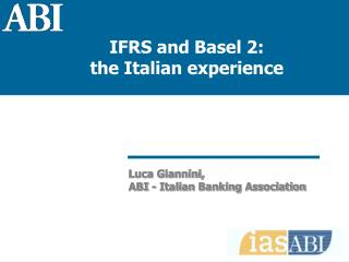 Luca Giannini, ABI - Italian Banking Association
