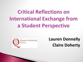 Critical Reflections on International Exchange from a Student Perspective
