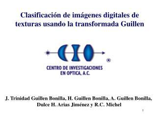 Clasificación de imágenes digitales de texturas usando la transformada Guillen