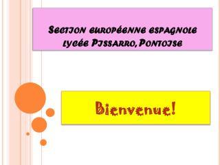 Section européenne espagnole lycée Pissarro, Pontoise