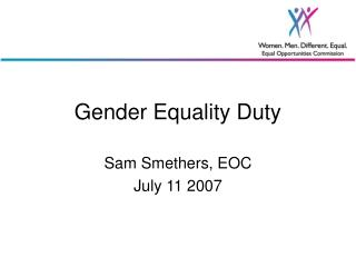 Gender Equality Duty