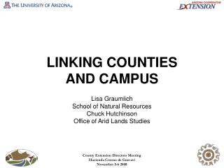 LINKING COUNTIES  AND CAMPUS
